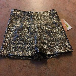 Nwt GB sequin high waist shorts